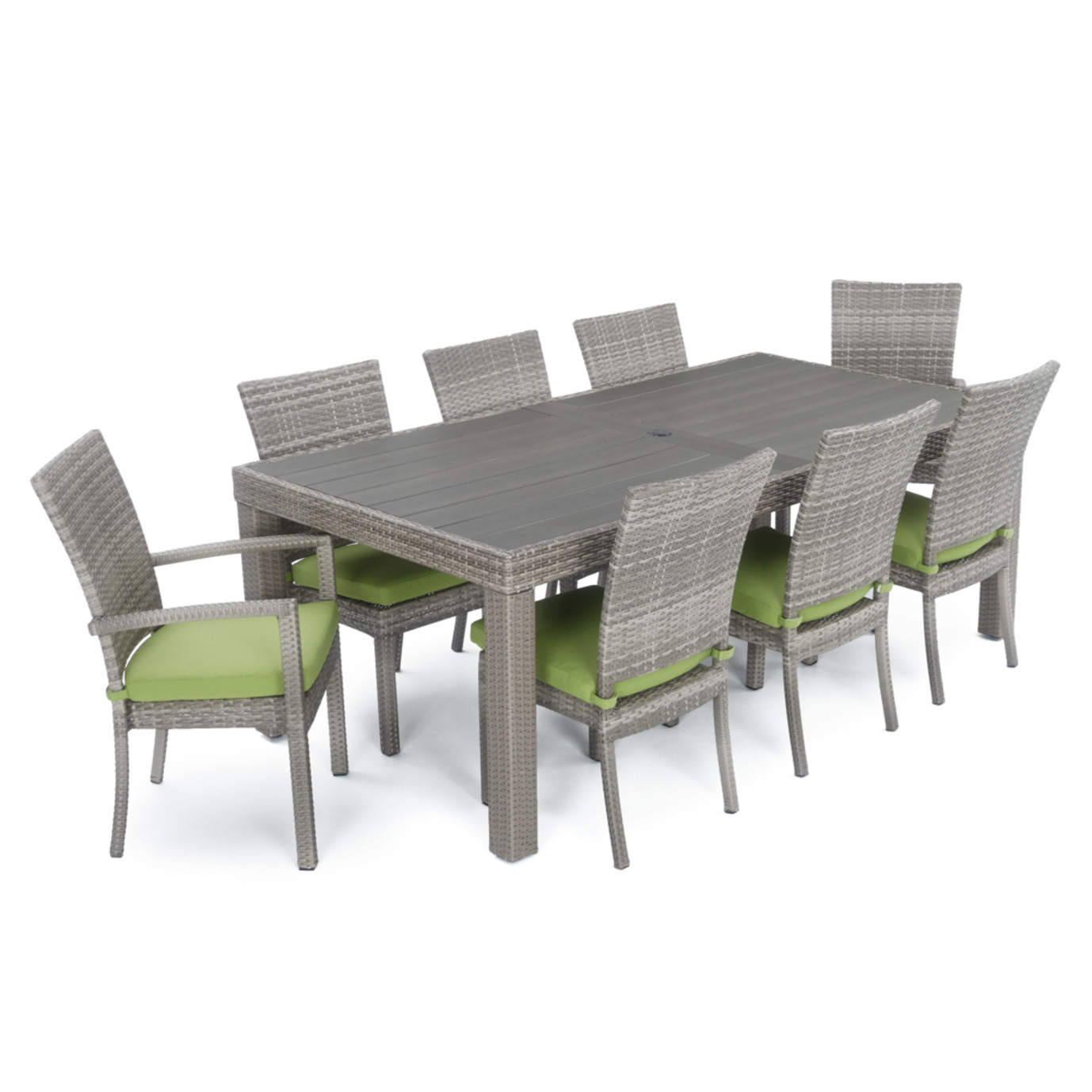 Cannes™ Woven Dining Set - Ginkgo Green