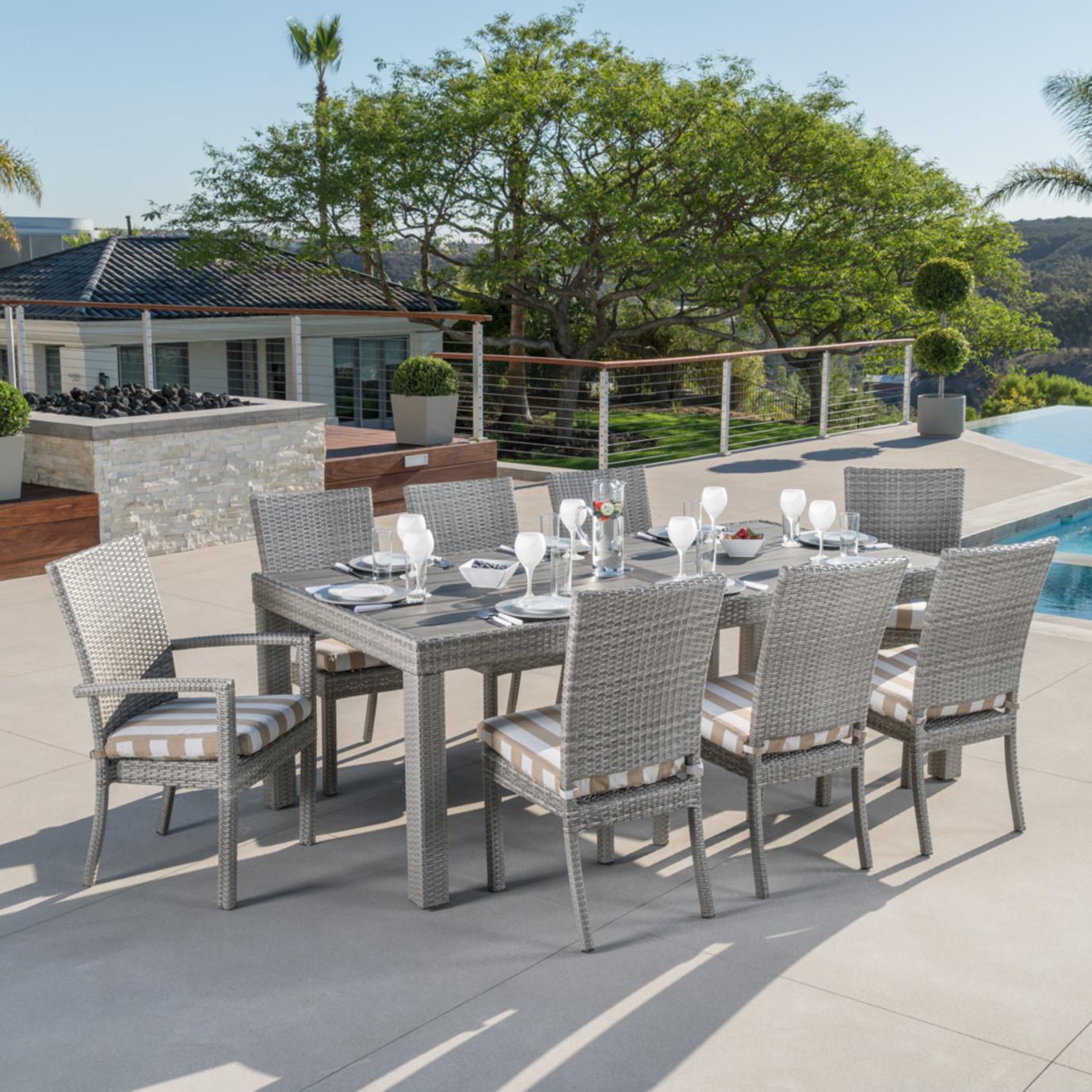 Cannes™ 9pc Dining Set - Maxim Beige Stripe