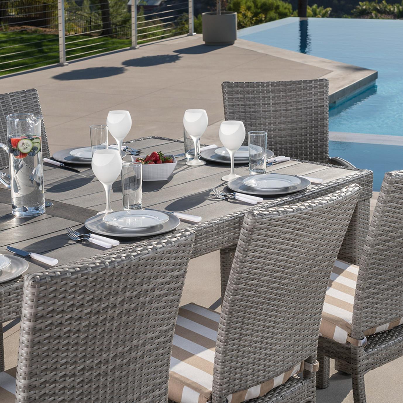Cannes™ 9 Piece Dining Set - Maxim Beige Stripe