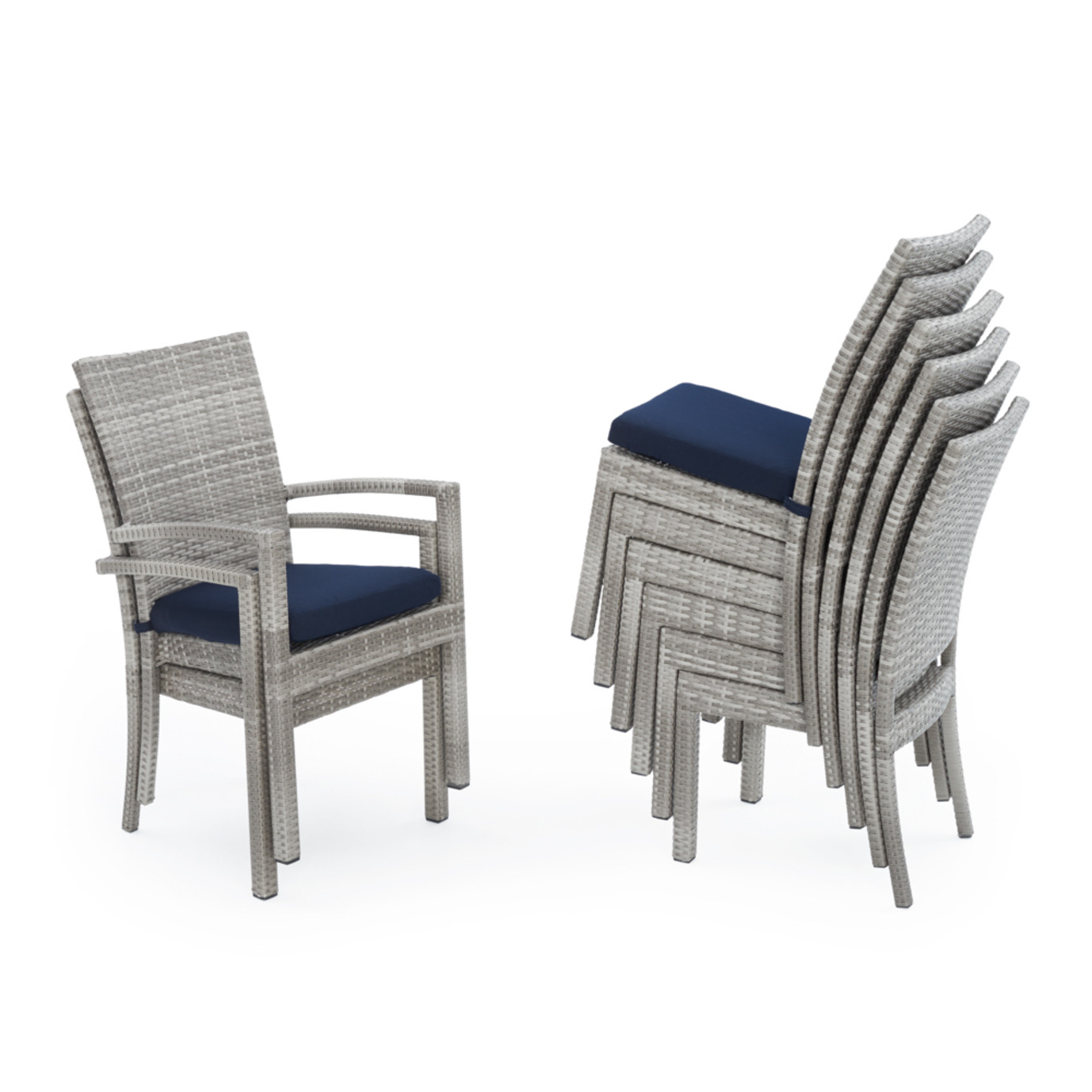 Cannes™ Woven Dining Set - Navy Blue