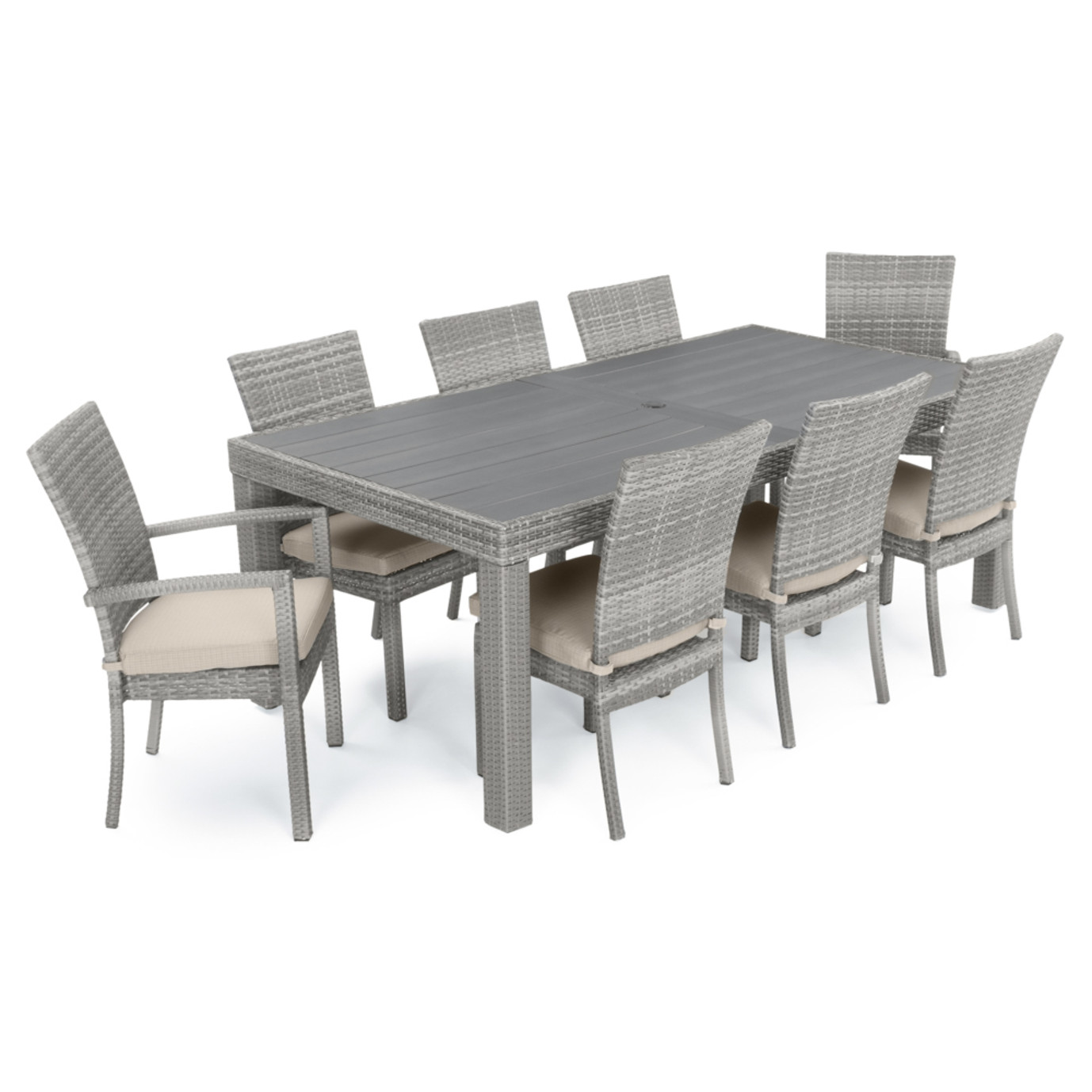 Cannes™ Woven Dining Set - Slate Grey