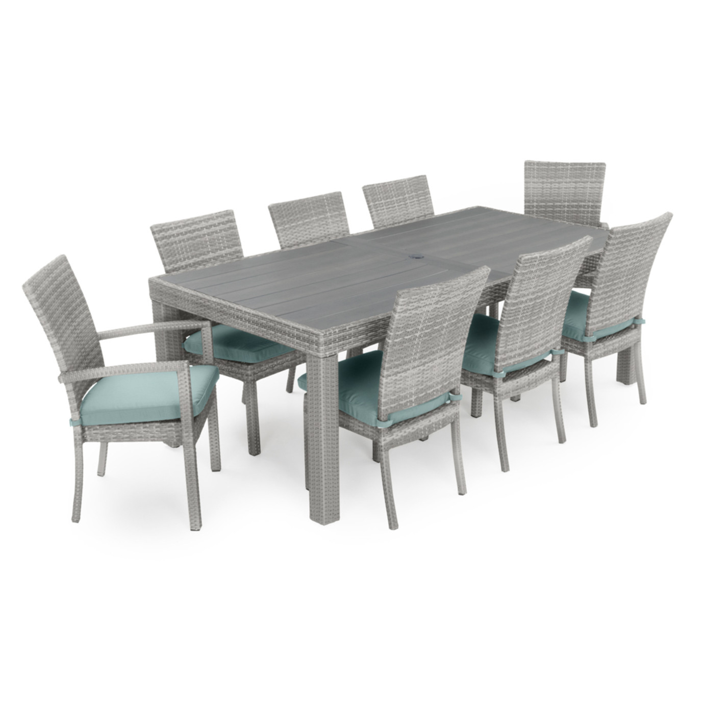 Cannes™ 9pc Dining Set - Spa Blue