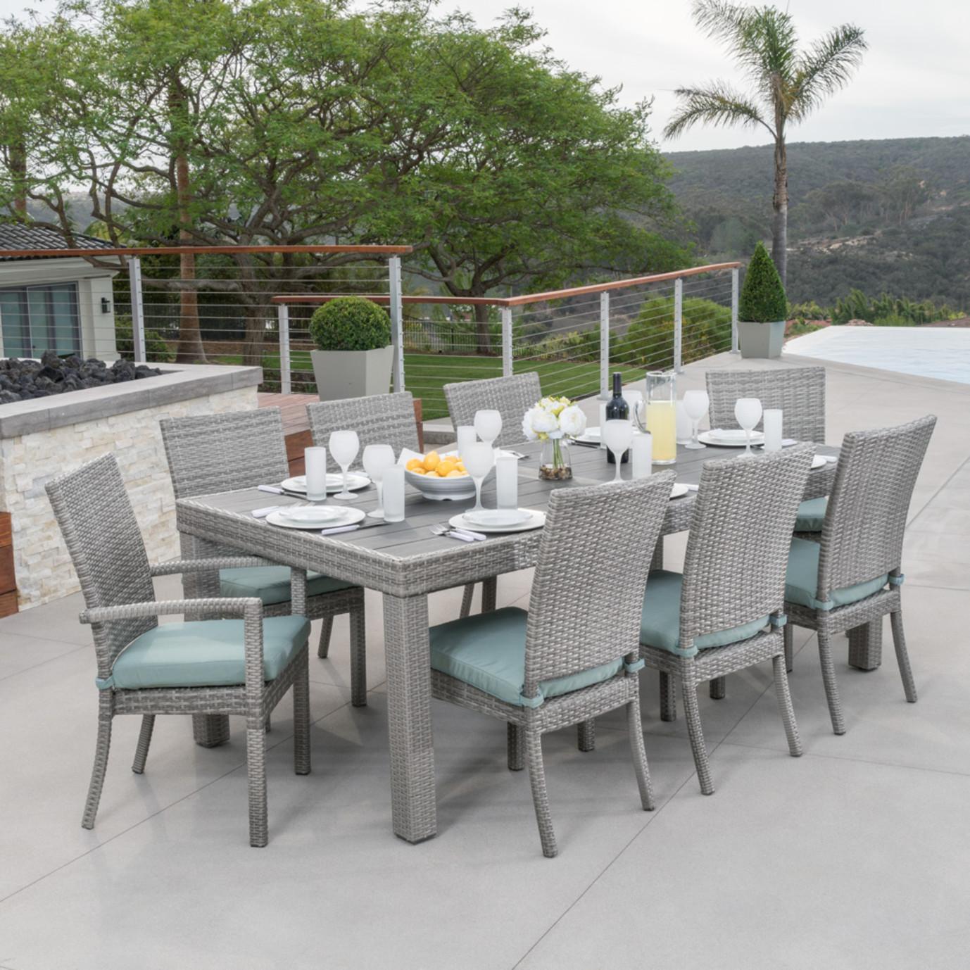 Cannes™ 9 Piece Dining Set - Spa Blue