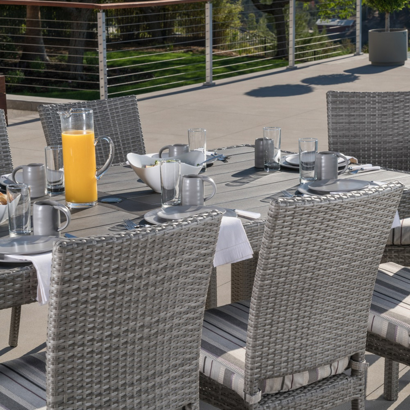 Cannes™ Woven Dining Set - Wisteria Lavender