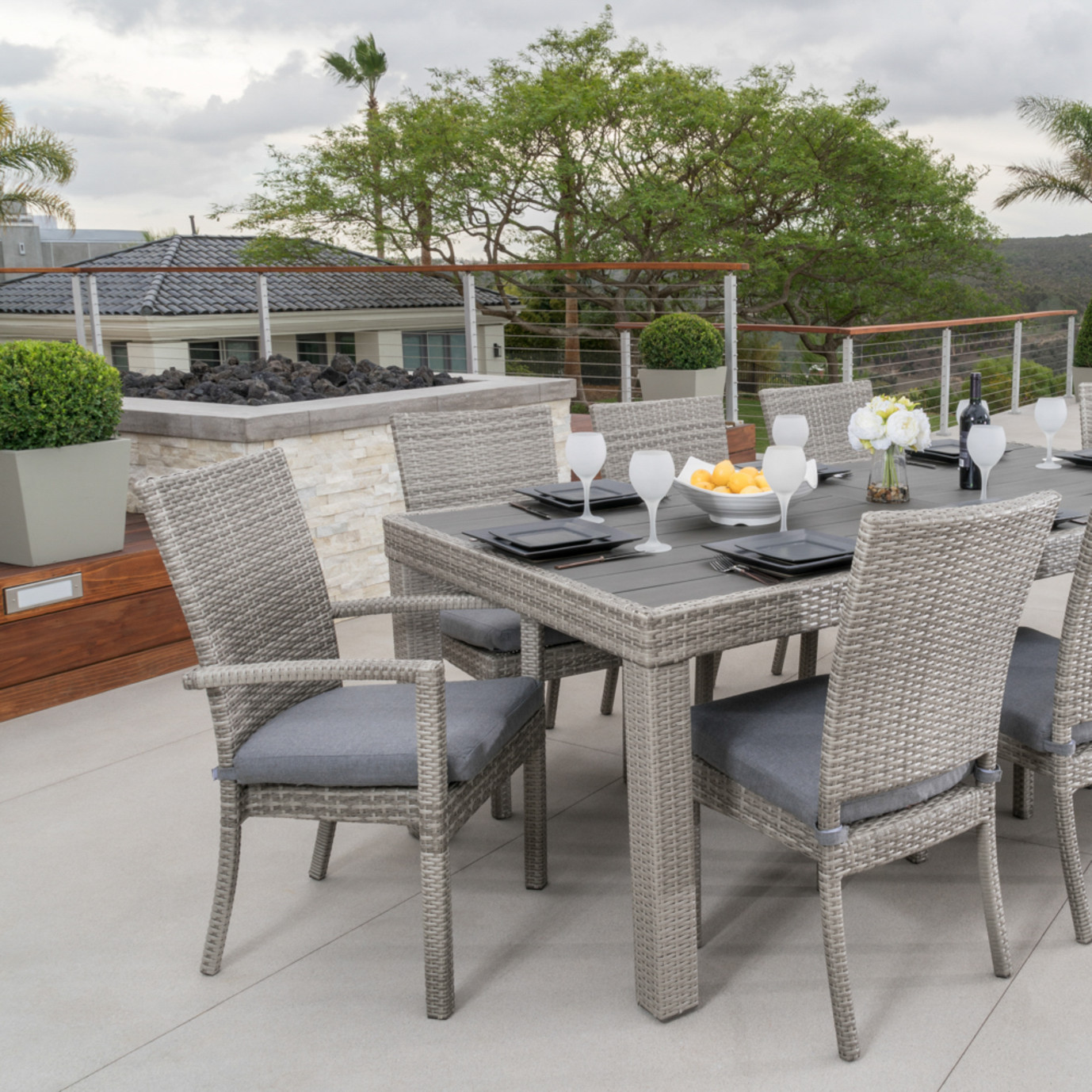 Cannes™ 9pc Dining Set - Sunflower Yellow