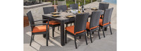Deco™ 9 Piece Dining Set - Charcoal Gray