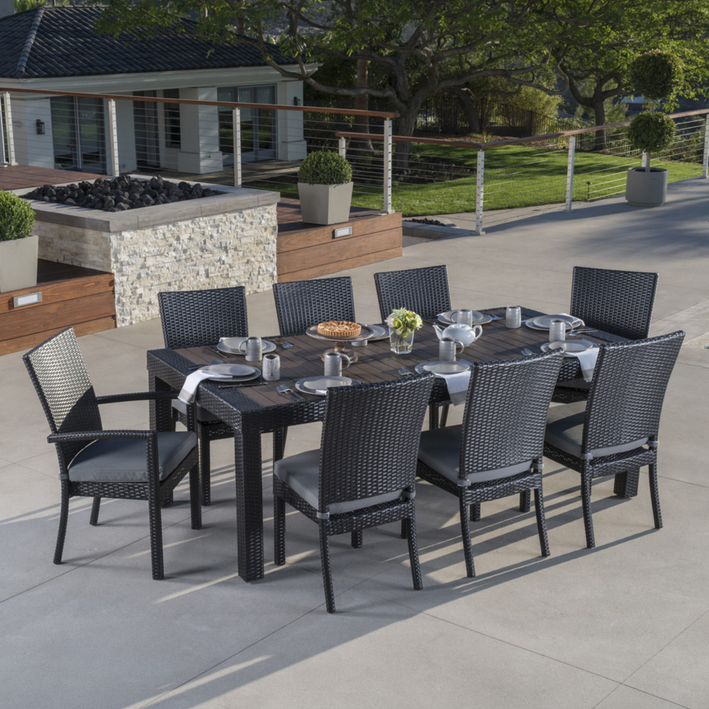 Deco™ 9pc Dining Set - Charcoal Gray
