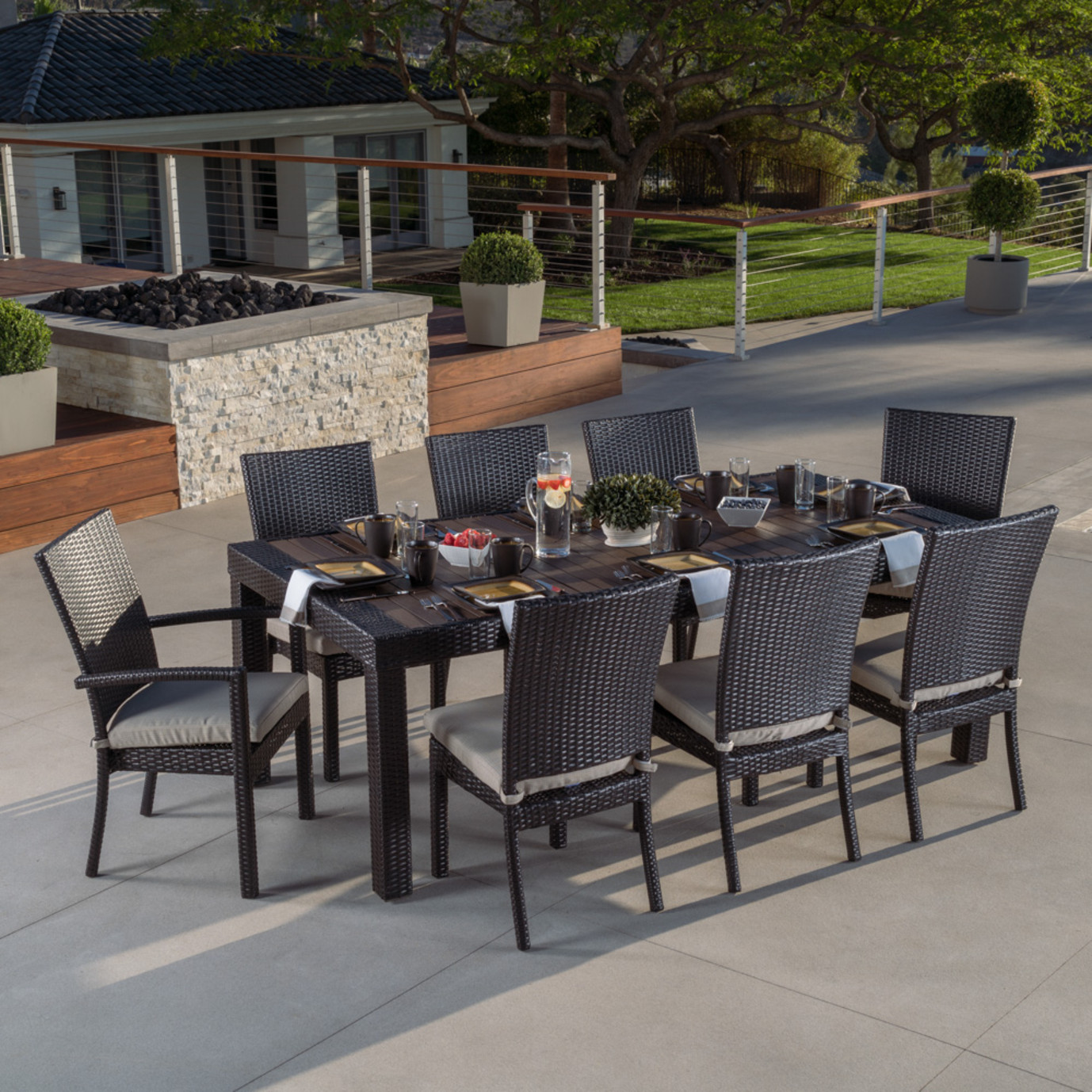 Deco™ 9pc Dining Set - Slate Gray