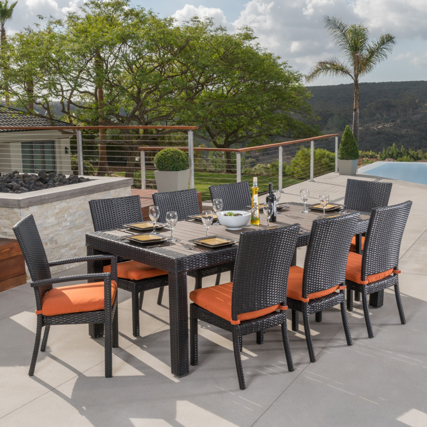 Deco™ 9 Piece Dining Set - Tikka Orange