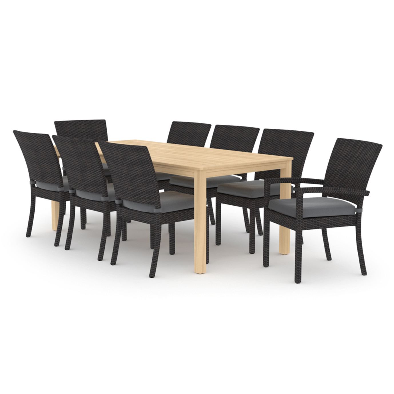 Deco™ Wood 9pc Dining Set - Charcoal Gray
