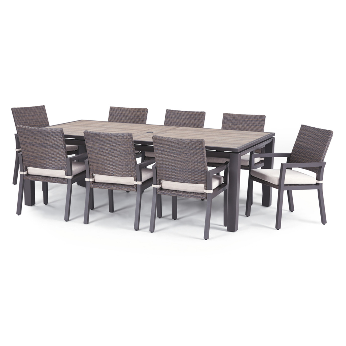 Milea 9 Piece Dining Set - Natural Beige