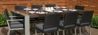 Milo™ Espresso 9 Piece Dining Set - Charcoal Gray