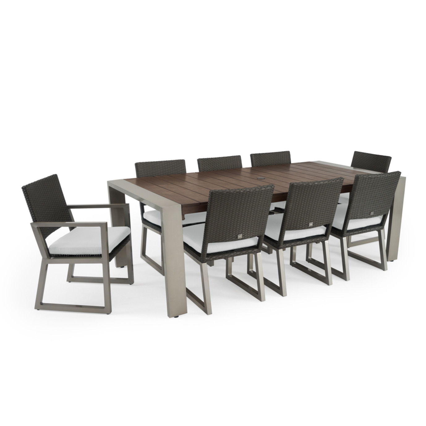 Milo™ Espresso 9pc Dining Set - Moroccan Cream