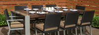 Milo™ Espresso 9 Piece Dining Set - Navy Blue