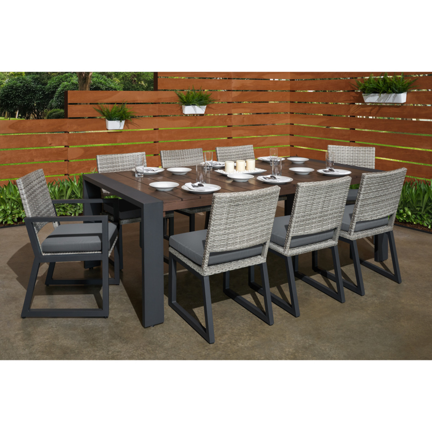 Milo™ Gray 9pc Dining Set - Charcoal Gray
