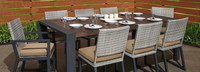 Milo™ Gray 9 Piece Dining Set - Navy Blue