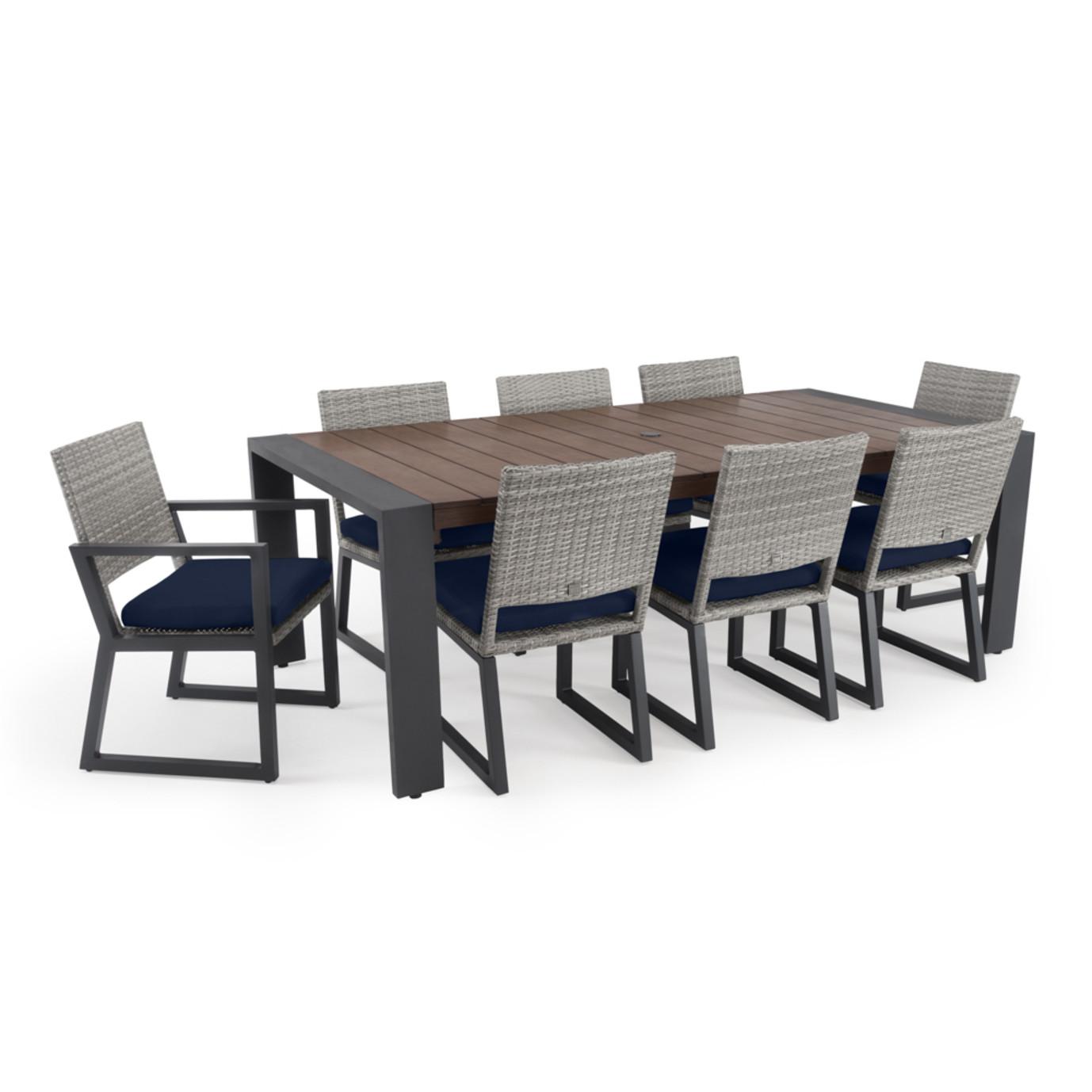 Milo™ Gray 9pc Dining Set - Navy Blue