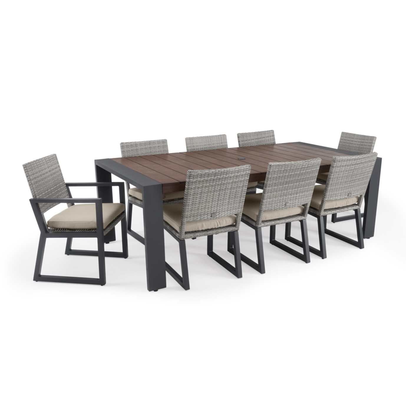 Milo™ Gray 9pc Dining Set - Slate Gray