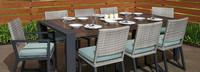 Milo™ Gray 9 Piece Dining Set - Spa Blue