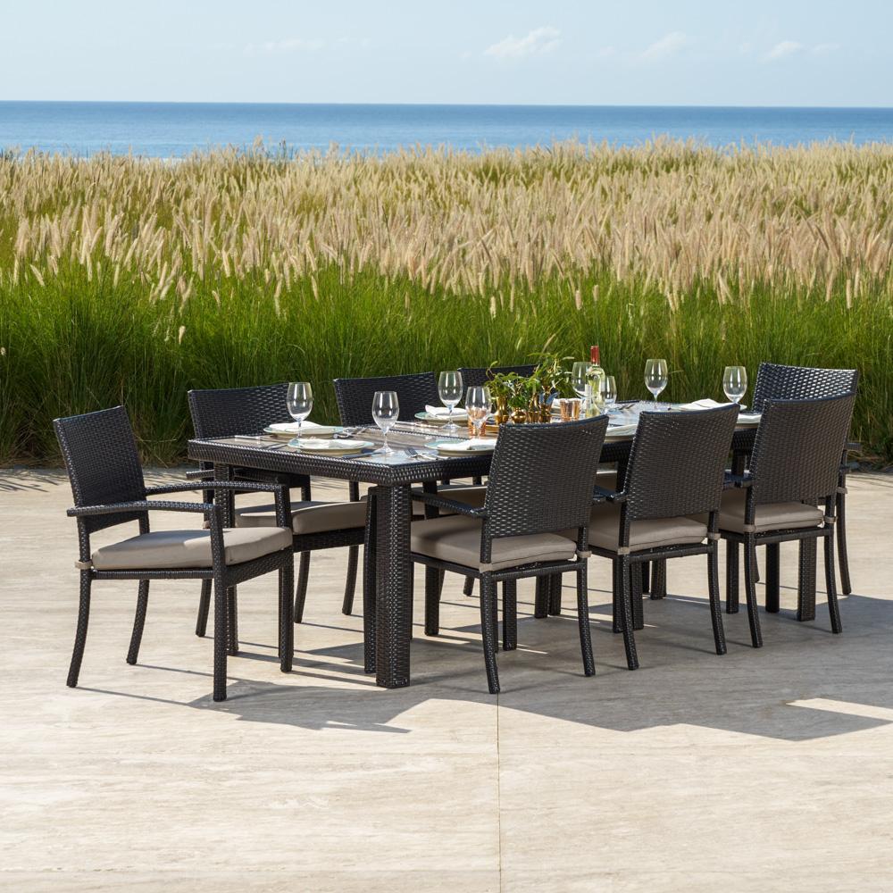 ... Portofino™ Comfort 9pc Dining Set   Espresso Taupe ...
