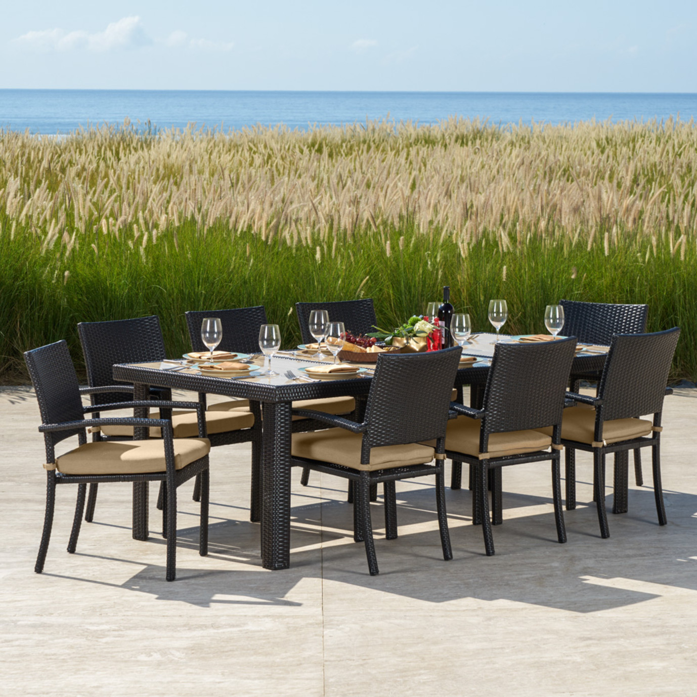 Portofino™ Comfort 9pc Dining Set - Heather Beige