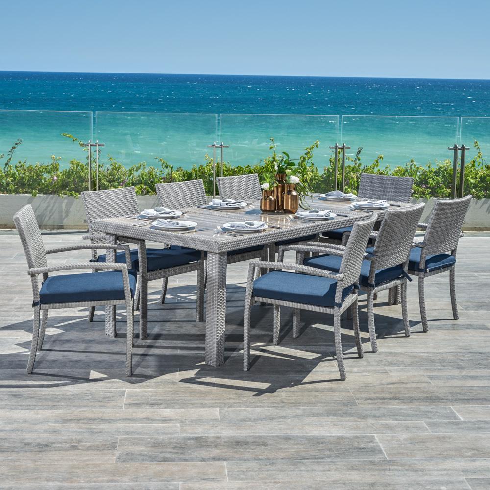 Portofino Comfort 9pc Dining Set - Laguna Blue