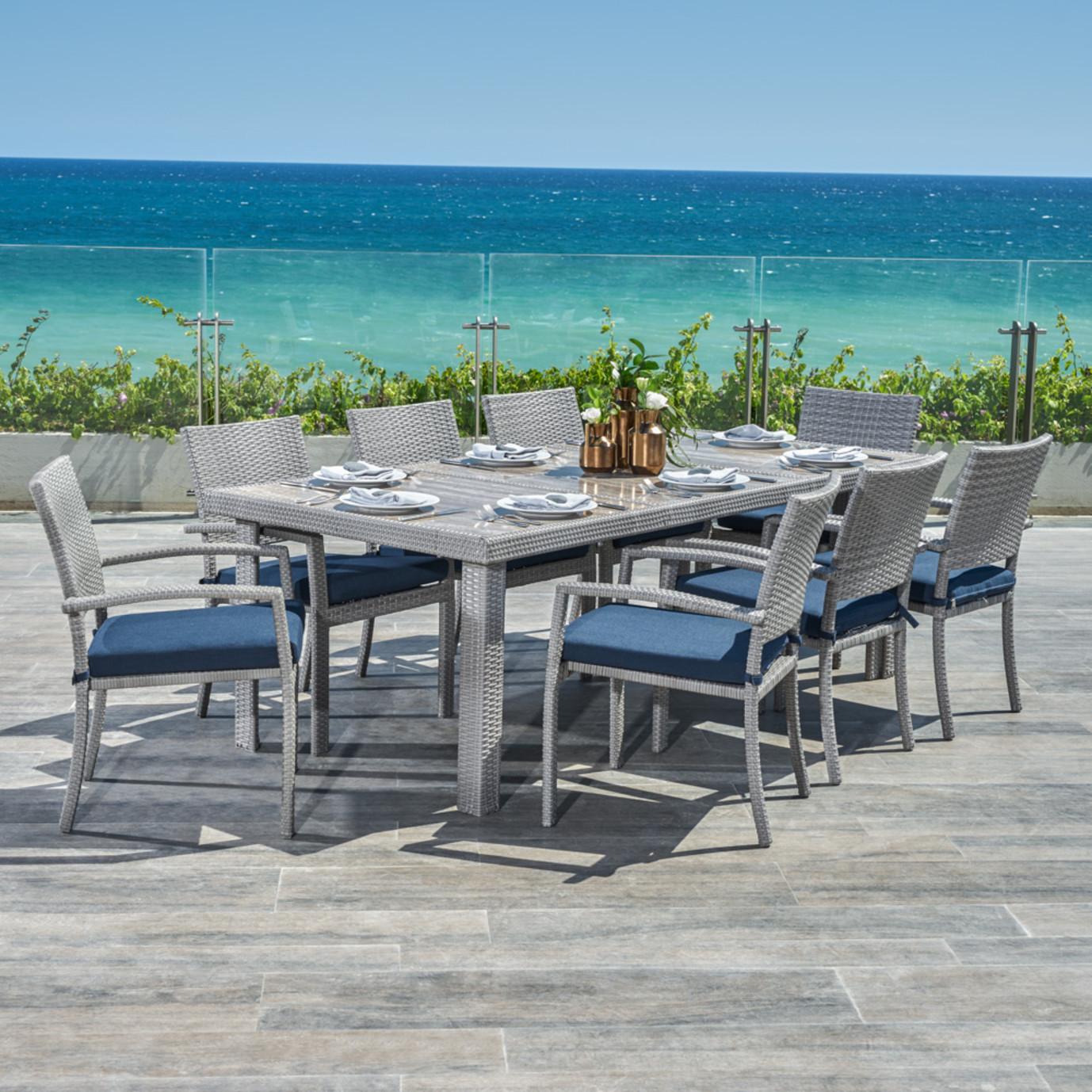 Portofino® Comfort 9pc Dining Set - Laguna Blue