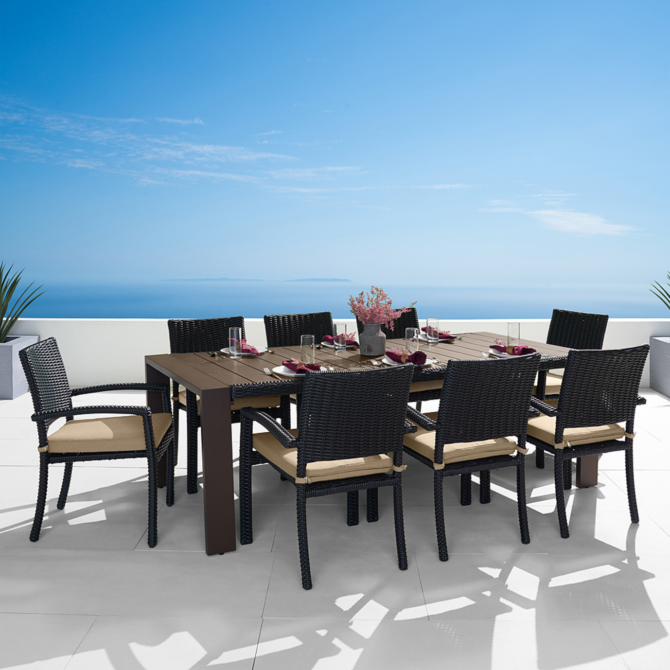 Portofino® Prestige 9pc Dining Set - Espresso