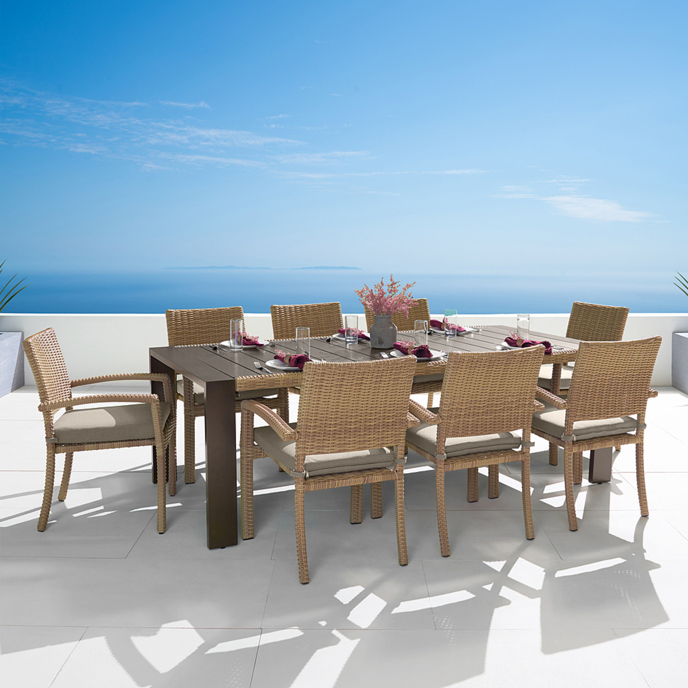 Portofino® Prestige 9pc Dining Set - Sand