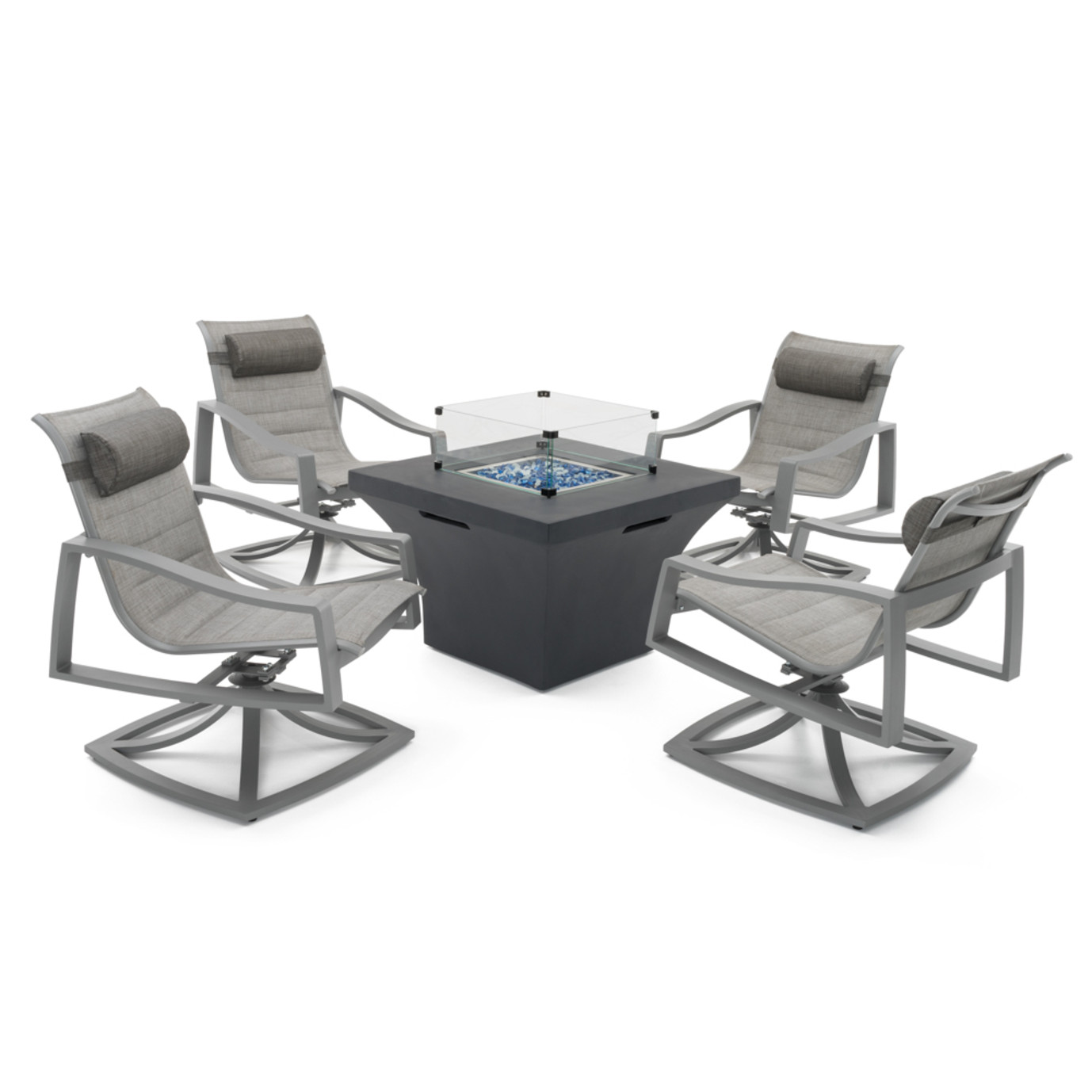 Portofino Padded Sling 5pc Motion Fire Chat Space Grey