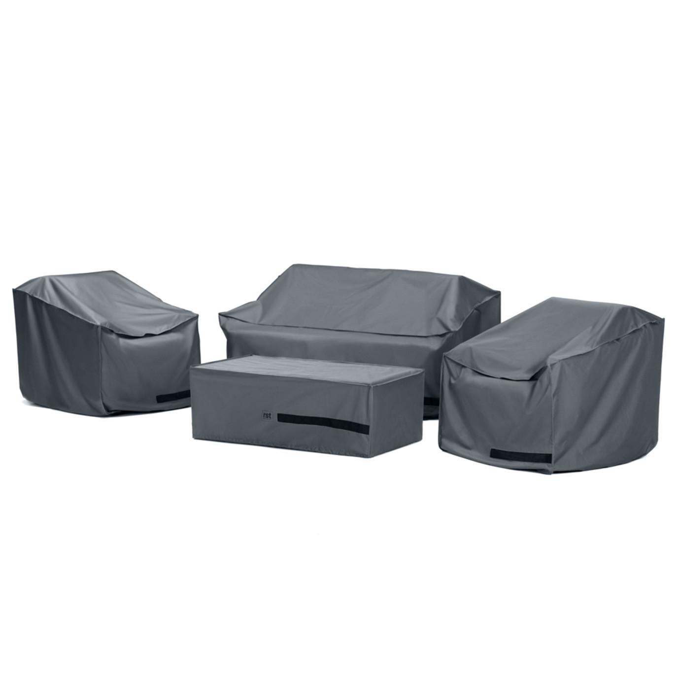 Portofino® Comfort 4 Piece Loveseat Furniture Cover Set