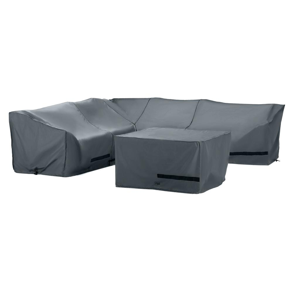 Portofino Comfort 6 Piece Sectional Fire Seating Furniture Cover Set