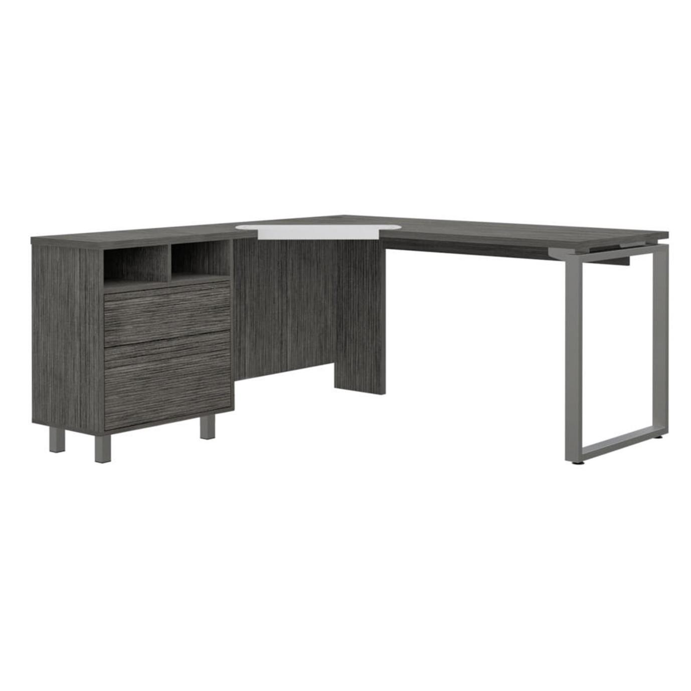 Emery 3 Drawer Desk - Gray Oak