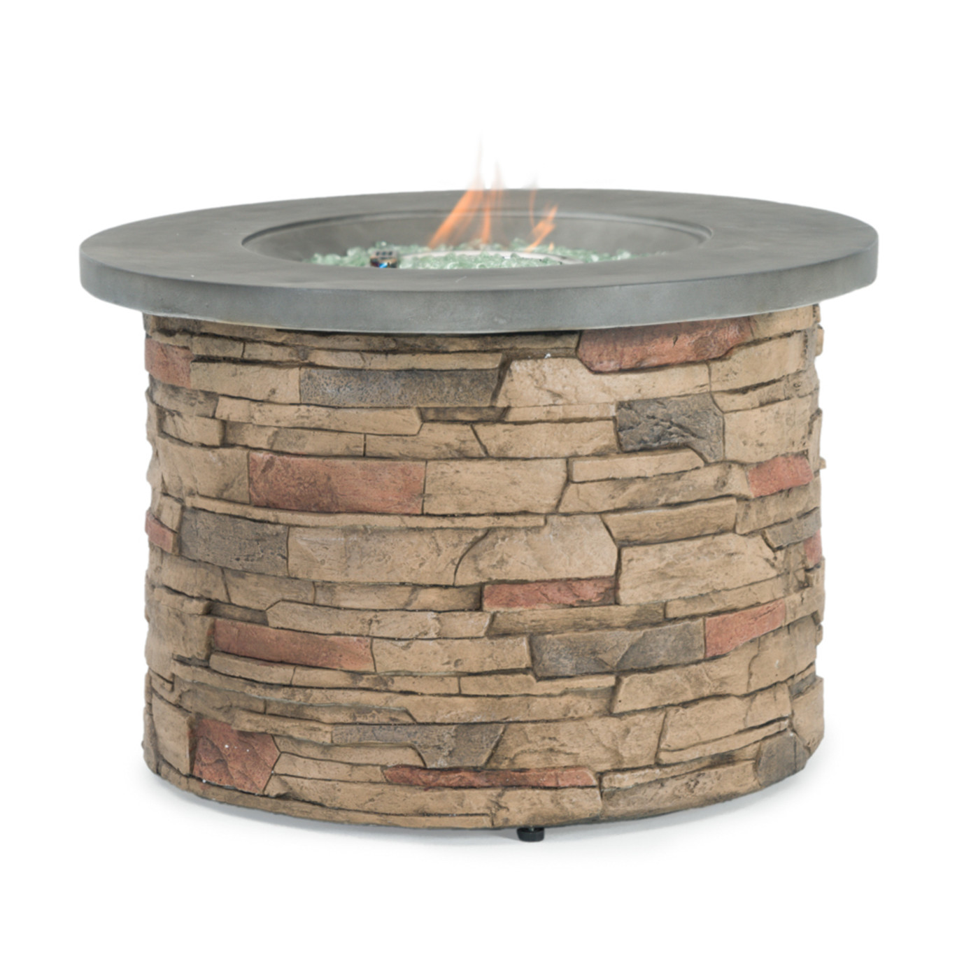 Sego Lily™ Sage Round Stone Fire Table