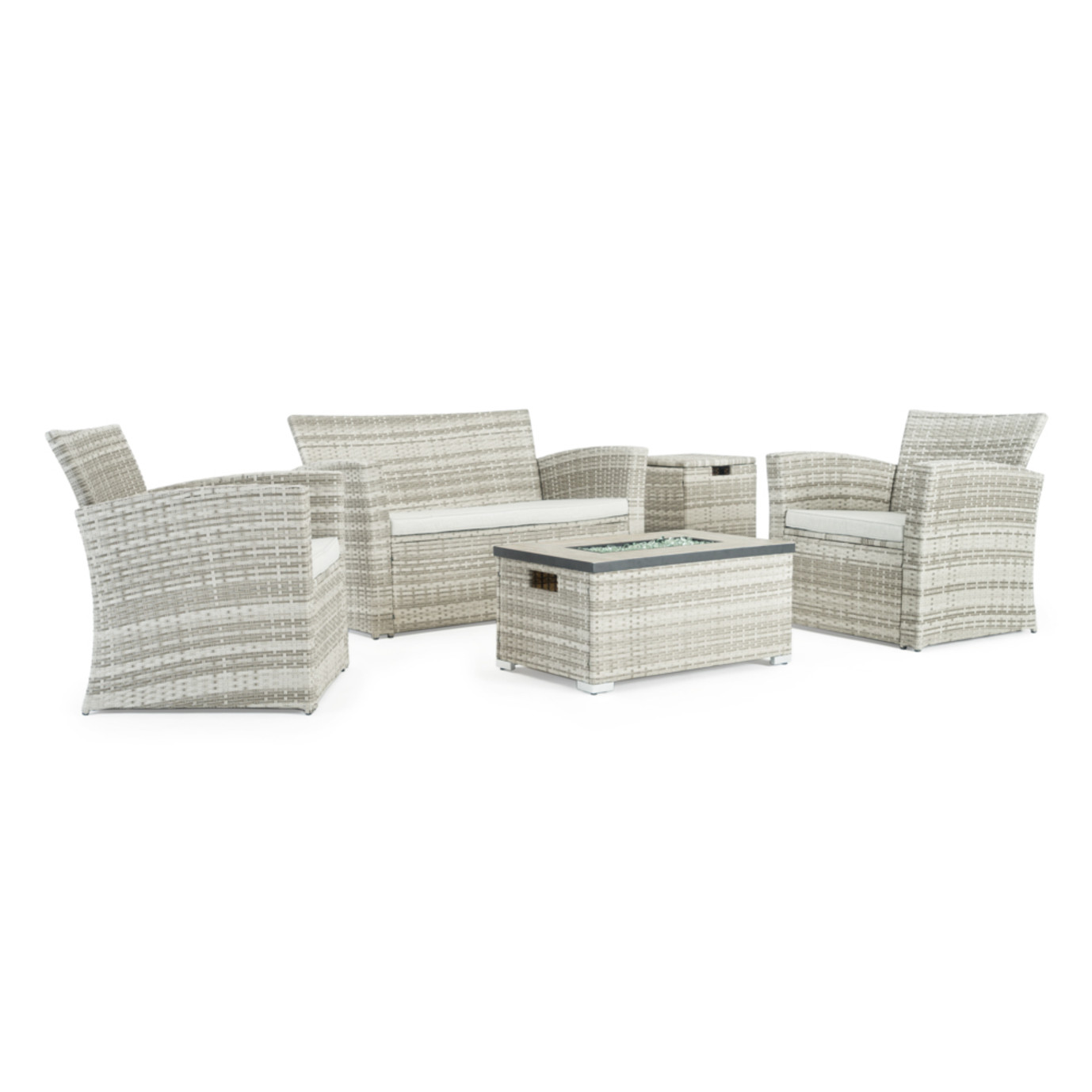 Sego Lily™ Magna 4 Piece Fire Seating Set - Gray