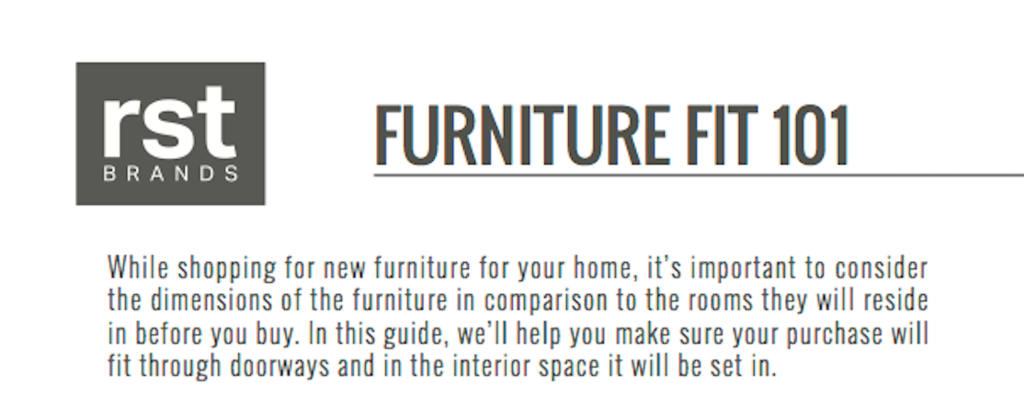 Make Sure Your Furniture Will Fit! [Infographic]